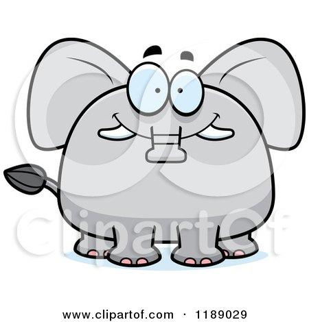 Cartoon of a Happy Elephant Mascot - Royalty Free Vector Clipart by Cory Thoman