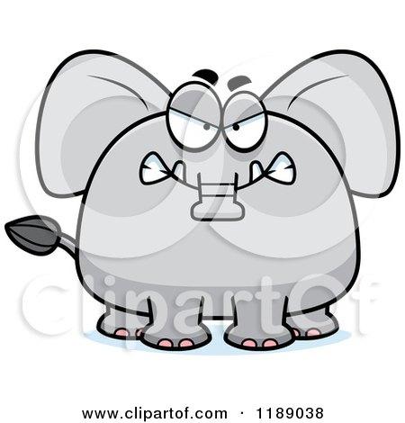 Cartoon of a Mad Elephant Mascot - Royalty Free Vector Clipart by Cory Thoman