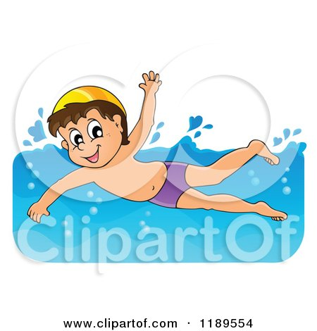 Clipart Summer Kids In A Swimming Pool Royalty Free