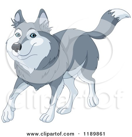 Royalty-Free (RF) Wolf Clipart, Illustrations, Vector Graphics #1