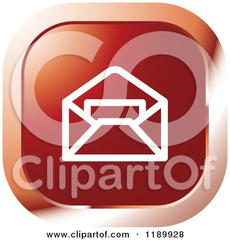 Clipart of a Red Mail Icon - Royalty Free Vector Illustration by Lal Perera