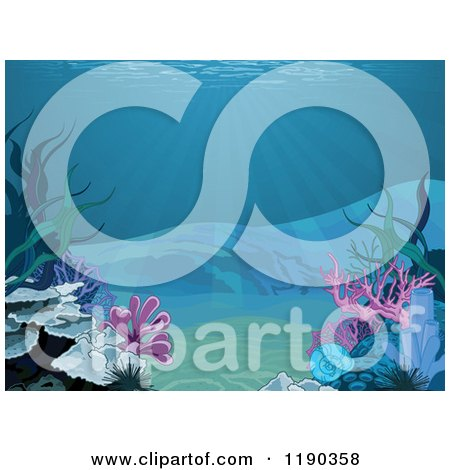 Clipart of a Background of Sun Shining down to the Bottom of the ...