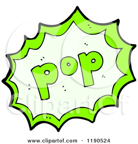 Popping Bubble Vector Cartoon of a speaking bubble