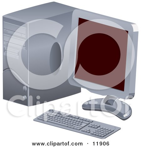 Personal Desktop Computer PC With a Flat Screen Posters, Art Prints