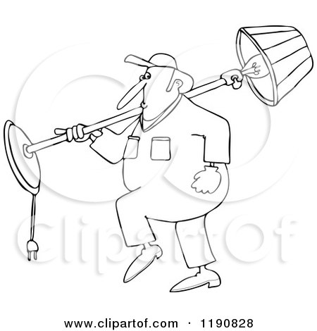Outlined Furniture Repo Or Delivery Man Carrying A Chair 1084437 on small digital piano