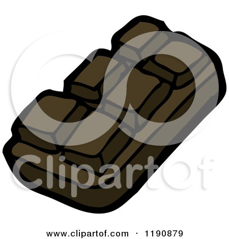Cartoon of a Portion of a Keyboard - Royalty Free Vector Illustration by lineartestpilot