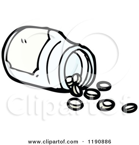 cartoon of a spilled pill bottle royalty free vector illustration rh clipartof com Tangerine Tree Clip Art Ski Club Clip Art