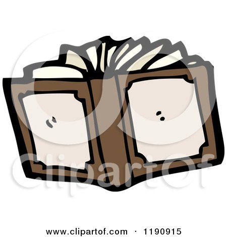 Cartoon of an Open Book - Royalty Free Vector Illustration by lineartestpilot