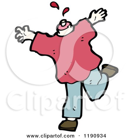Cartoon of a Headless Body - Royalty Free Vector Illustration by lineartestpilot