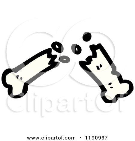 Cartoon Pictures of Dog Bones Cartoon of a Broken Dog Bone