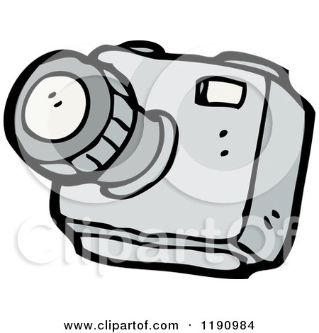 Cartoon of a Film Camera - Royalty Free Vector Illustration by lineartestpilot