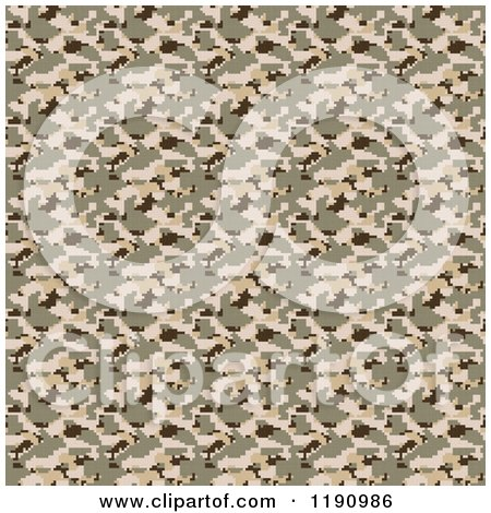 Clipart of a Seamless Desert Military Camouflage Pattern - Royalty Free CGI Illustration by Arena Creative