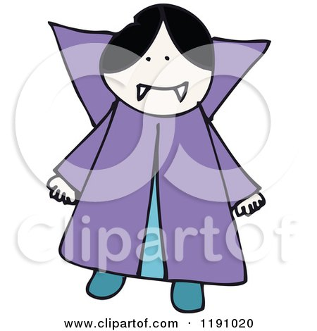 Cartoon of a Sick Figure Vampire Girl - Royalty Free ...