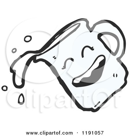 Cartoon of a Smiling Pitcher of Milk - Royalty Free Vector Illustration by lineartestpilot