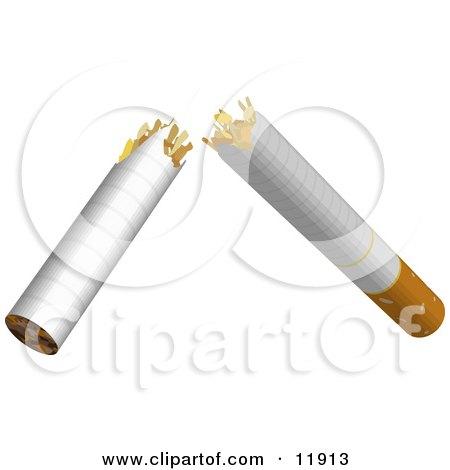 Cigarette Broken in Half, Quit Smoking Posters, Art Prints