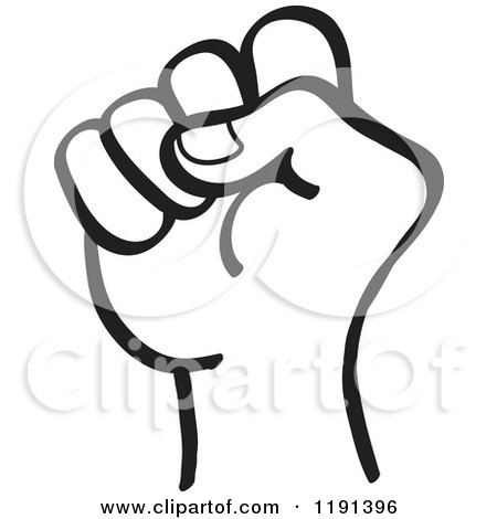 clipart of a black and white hand in a fist royalty free vector rh clipartof com fish clip art fish clip art
