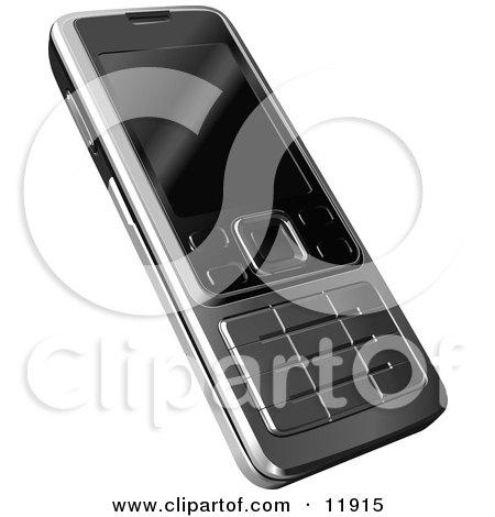 Modern Cell Phone Clipart Illustration by AtStockIllustration