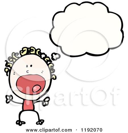 Royalty-Free (RF) Stick Child Thinking Clipart, Illustrations ...
