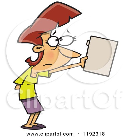 Nervous Businesswoman Submitting a File Cartoon Posters, Art Prints