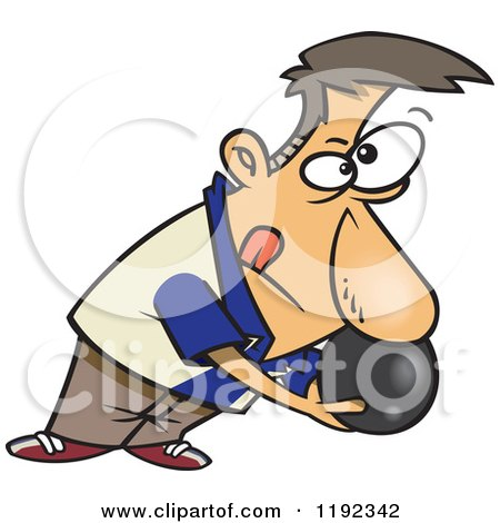 Royalty-Free (RF) Clip Art Illustration of a Cartoon Boy Bowling ...