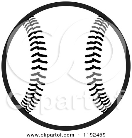 Clip Art Baseball Clipart Black And White royalty free rf black and white baseball clipart illustrations preview clipart