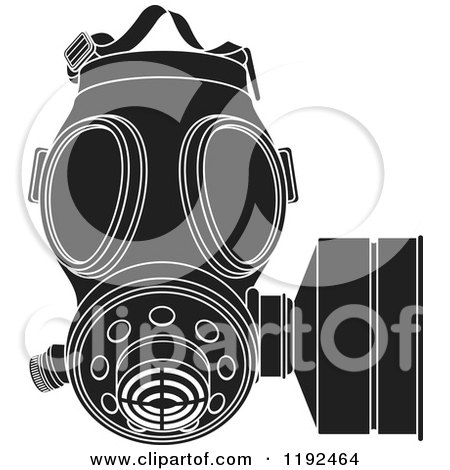 Royalty-Free (RF) Gas Mask Clipart, Illustrations, Vector Graphics #1