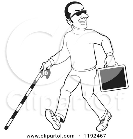 Blind Man Illustration Graphic, HD Png Download , Transparent Png Image -  PNGitem