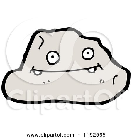 Cartoon of a Rock - Royalty Free Vector Illustration by ...