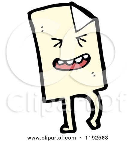 Cartoon of a Piece of Paper - Royalty Free Vector Illustration by lineartestpilot