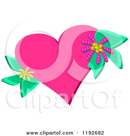 Royalty Free Rf Floral Heart Clipart Illustrations