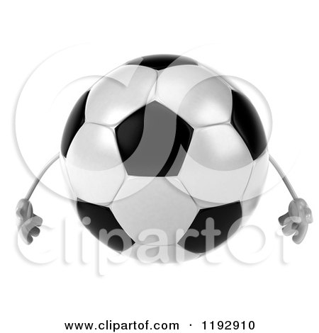 Clipart of a 3d Soccer Ball Mascot - Royalty Free CGI Illustration by Julos