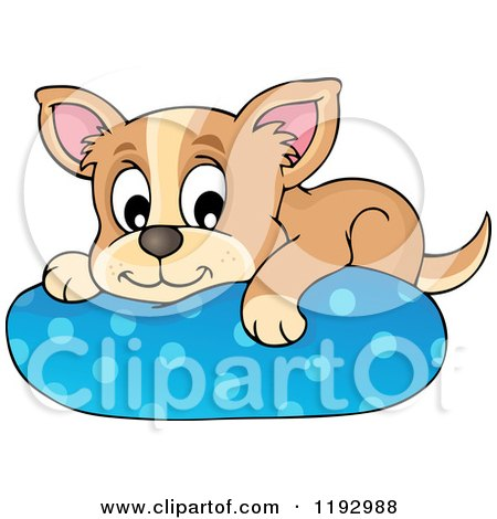Royalty Free Rf Dog Bed Clipart Illustrations Vector