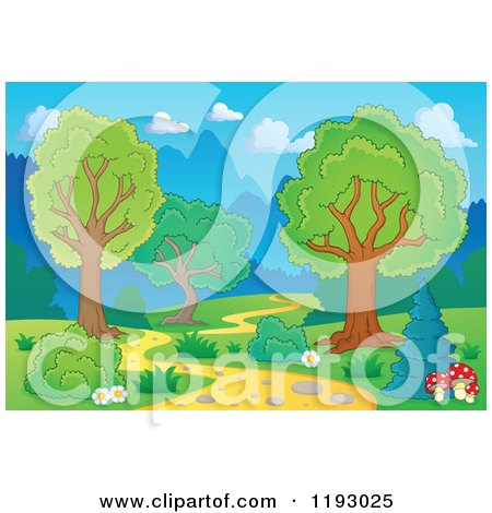 Winding Path Illustration Cartoon of a Winding P...