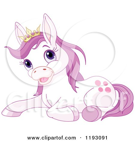 Pony Wearing a Crown
