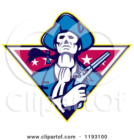 Clipart Graphic of a Retro Female American Patriot Minuteman ...