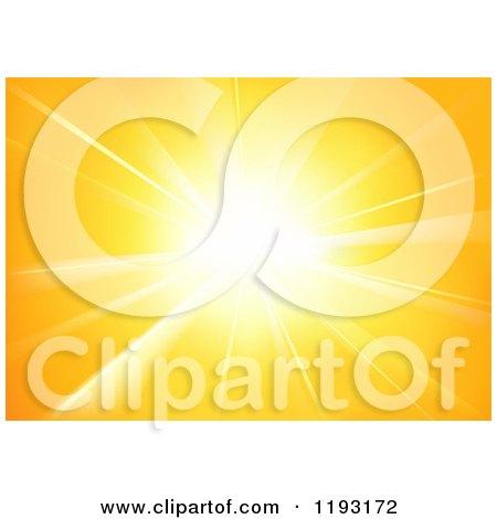 Clipart of a Burst of Orange Sunshine - Royalty Free Vector Illustration by dero
