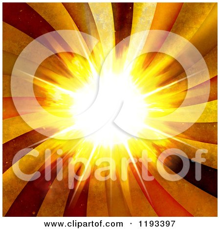 Clipart of a Bright Burst with Grungy Rays - Royalty Free CGI Illustration by Arena Creative
