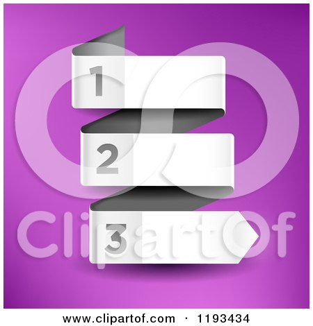 Clipart of a Numbered Infographic Paper Arrow Banner - Royalty Free Vector Illustration by TA Images