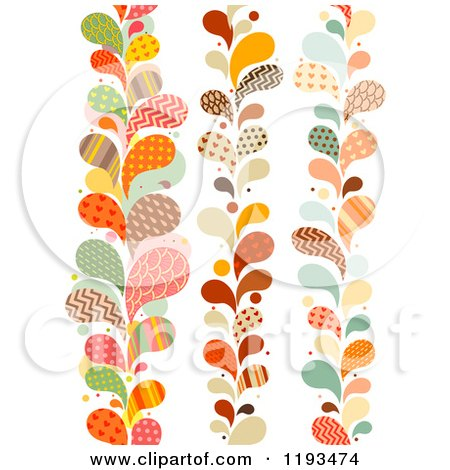Cartoon of Patterned Paisly Splash Vertical Borders - Royalty Free Vector Clipart by BNP Design Studio