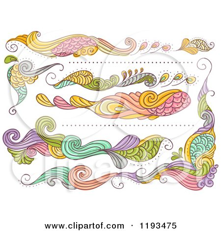 Cartoon of Whimsy Website Design Elements - Royalty Free Vector Clipart by BNP Design Studio