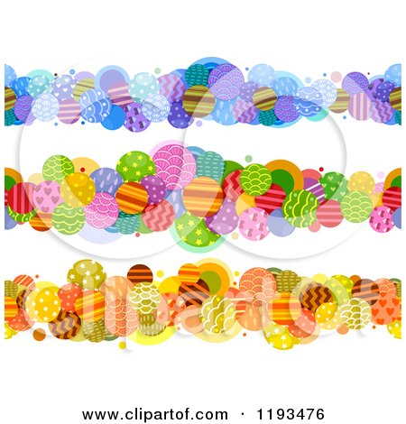 Cartoon of Patterned Circle Borders - Royalty Free Vector Clipart by BNP Design Studio