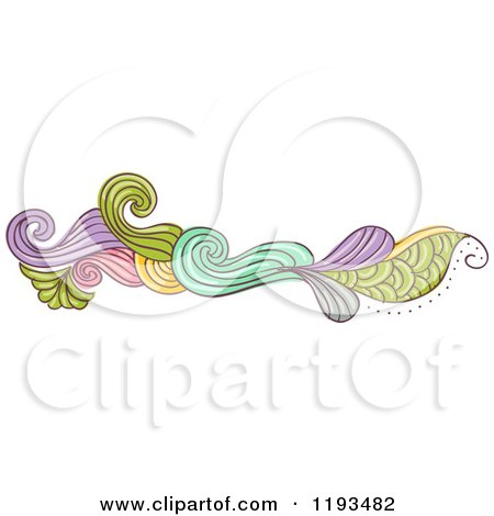 Cartoon of a Whimsy Website Border 4 - Royalty Free Vector Clipart by BNP Design Studio