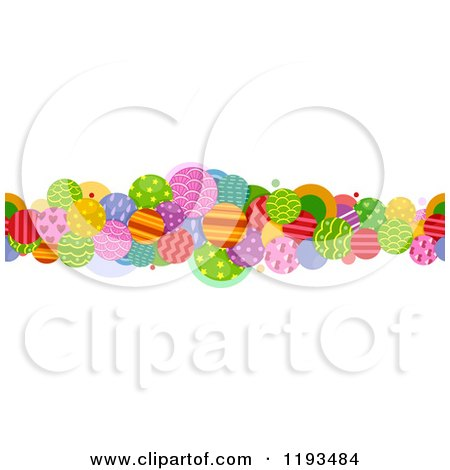 Cartoon of a Colorful Patterned Circle Border - Royalty Free Vector Clipart by BNP Design Studio