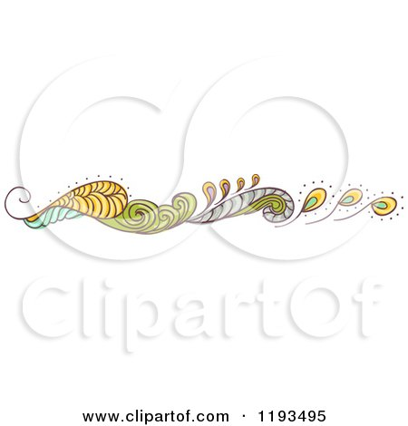 Cartoon of a Whimsy Website Border 2 - Royalty Free Vector Clipart by BNP Design Studio