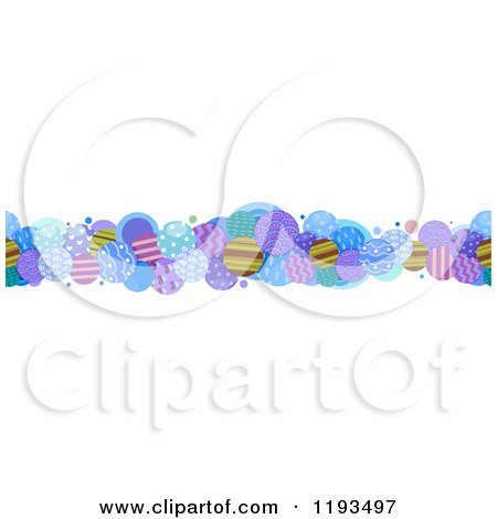 Cartoon of a Patterned Circle Border - Royalty Free Vector Clipart by BNP Design Studio