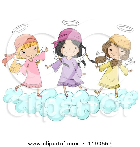 Angel Avatar Character With Halo And Wings - Free Vector Clipart ...