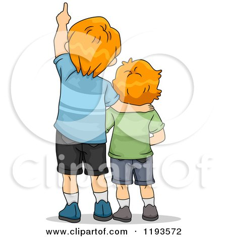 Royalty Free RF Little Brother Clipart Illustrations Vector