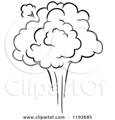 Clipart of a Black and White Comic Burst Explosion or Poof 10 - Royalty Free Vector Illustration by Vector Tradition SM