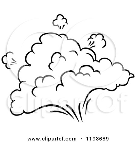Clipart of a Black and White Comic Burst Explosion or Poof 6 - Royalty Free Vector Illustration by Vector Tradition SM