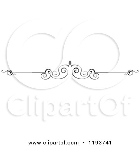 Clipart of a Black and White Page Border Rule - Royalty Free Vector Illustration by Vector Tradition SM